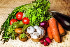 Fresh vegetables on a table Royalty Free Stock Photos