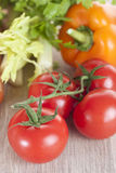 Fresh vegetables on a table. Vegetables on a wooden table Stock Photography