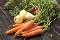 Fresh vegetables. On the table Royalty Free Stock Photo