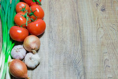 Fresh vegetables on the table Stock Photography