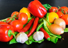 Fresh vegetables on the table Royalty Free Stock Photography