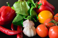 Fresh vegetables on the table Royalty Free Stock Images