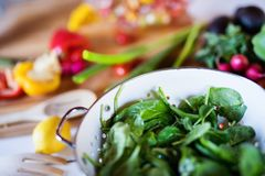 Fresh vegetables on the table. Close up Royalty Free Stock Photos