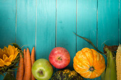 Fresh vegetables on table Stock Images