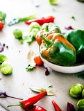 Fresh vegetables on table Royalty Free Stock Image