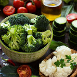 Fresh vegetables on a table Royalty Free Stock Photo