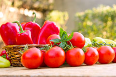 Fresh vegetables on table Royalty Free Stock Images