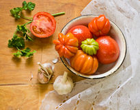 Fresh vegetables on table Stock Image