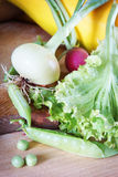 Fresh vegetables on the table Royalty Free Stock Photos