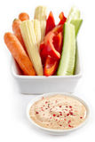 Fresh vegetables and taco dip Stock Photography