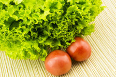 Fresh vegetables, tomatoes and lettuce Stock Image