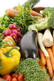Fresh vegetables on tray Stock Image