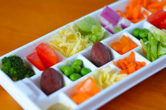 Fresh vegetables in tray Stock Photography