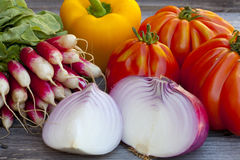 Fresh vegetables from the Weekly Market Royalty Free Stock Image