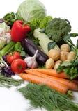 Fresh vegetables on white. A lot of fresh, different vegetables on white Royalty Free Stock Photography