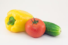 Fresh vegetables on a white background Stock Image