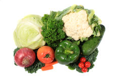 Fresh vegetables on white background Stock Photo