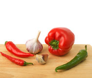 Fresh vegetables on white background Stock Photos