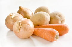 Fresh vegetables on the white background Stock Photography