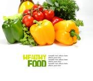 Fresh vegetables on the white background Royalty Free Stock Photos