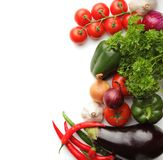 Fresh vegetables. On a white background Stock Photos