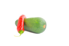 Fresh vegetables. On the white background royalty free stock images