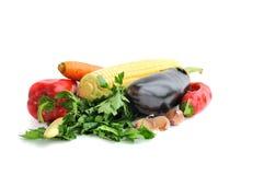 Fresh vegetables. On the white background Stock Images