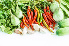 Fresh vegetables on a white background.  Stock Photography