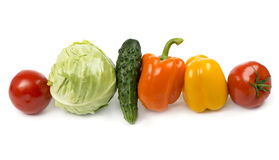 Fresh vegetables on the white background Royalty Free Stock Photography