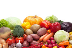 Fresh vegetables on the white background. Stock Photography