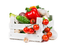 Fresh vegetables in white box Royalty Free Stock Image