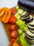 fresh vegetables on white, health food stock photography