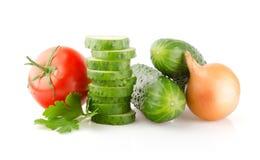 Fresh Vegetables on white Royalty Free Stock Photo