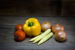 Fresh vegetables on wood background,still life Royalty Free Stock Photos
