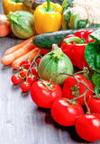 Fresh vegetables on wood Royalty Free Stock Photo