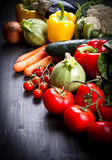 Fresh vegetables on wood. Some fresh vegetables on wood stock photography