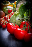 Fresh vegetables on wood. Some fresh vegetables on wood royalty free stock photo