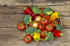 Fresh vegetables in a bowl Stock Photography