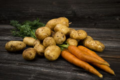 Fresh vegetables on wooden background Stock Image