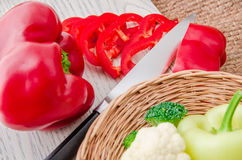Fresh vegetables on wooden background Stock Images