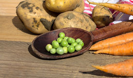Fresh vegetables on wooden table Stock Image