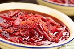 Fresh Vegetarian Borscht Soup Royalty Free Stock Photos