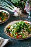 Fresh Vegetarian Bulgur Salad Stock Photos