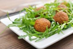Fresh vegetarian falafel Stock Photo