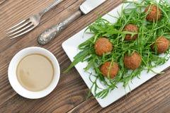 Fresh vegetarian falafel Stock Photography