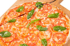 Fresh vegetarian pizza Royalty Free Stock Photo