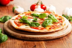 Fresh Vegetarian Pizza Stock Images