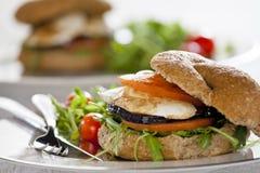 Fresh Vegetarian Sandwich Stock Photography