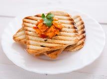 Fresh vegetarian toast Royalty Free Stock Image