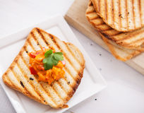 Fresh vegetarian toast Royalty Free Stock Photos